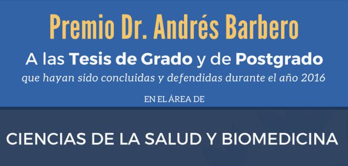Convocatoria Premio Dr. Andrés Barbero 2017